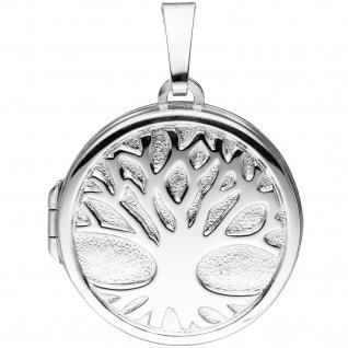 Medaillon Anhänger Baum des Lebens Weltenbaum rund 925 Silber mit Kette 50 cm - Vorschau 5