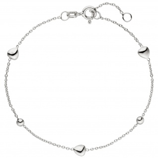 Armband Herz Kugel 925 Sterling Silber 19 cm Silberarmband