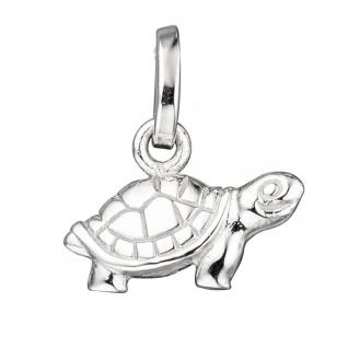 Kinder Anhänger Schildkröte 925 Sterling Silber mattiert Kinderanhänger