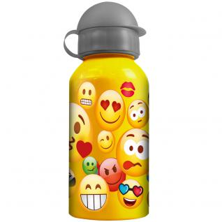 EMOTIX Kinder Trinkflasche aus Aluminium gelb grau 400ml