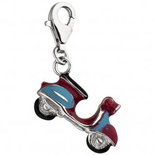 Einhänger Charm Motorroller 925 Sterling Silber