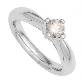 Damen Ring 585 Gold Weißgold 1 Diamant Brillant 0, 20ct. Diamantring Goldring