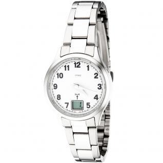 JOBO Damen Armbanduhr Edelstahl Datum Mineralglas Damenuhr - Vorschau 3
