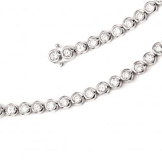 Armband 925 Sterling Silber 42 Zirkonia 19 cm Silberarmband Kastenschloss - Vorschau 3