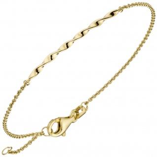 Armband 585 Gold Gelbgold 17, 5 cm Goldarmband