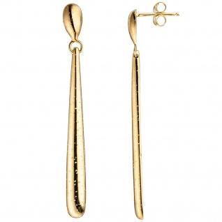 Ohrhänger lang 925 Sterling Silber gold vergoldet Ohrringe Ohrstecker