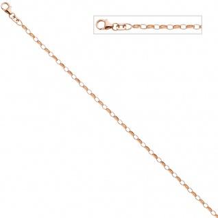 Ankerkette 925 Silber rotgold vergoldet 80 cm Kette Halskette Karabiner - Vorschau 3