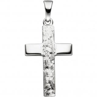 Anhänger Kreuz 925 Silber gehämmert Kreuzanhänger Silberanhänger Silberkreuz - Vorschau