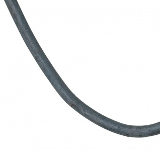 Leder Halskette Kette Schnur grau 100 cm - Vorschau 2