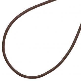 Collier Halskette Leder braun 925 Silber 42 cm Lederkette Karabiner - Vorschau 2