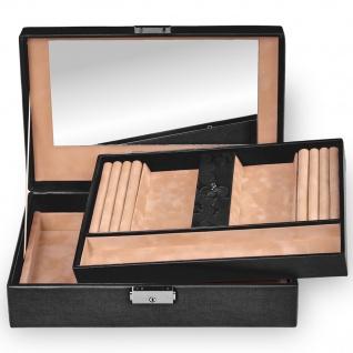 Sacher Schmuckkoffer Schmuckkasten NATURE FIORELLA Leder schwarz abschließbar - Vorschau 3