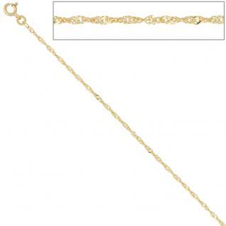Singapurkette 333 Gelbgold 1, 8 mm 42 cm Gold Kette Halskette Goldkette Federring - Vorschau 3