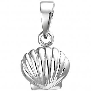 Kinder Anhänger Muschel 925 Sterling Silber Silberanhänger