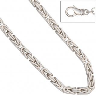 Königsarmband 925 Sterling Silber 21 cm Armband Silberarmband Karabiner - Vorschau 4
