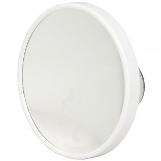 Pfeilring Kosmetikspiegel weiß 10-fach Vergrößerung Saugnäpfe