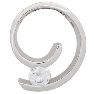 Anhänger 585 Gold Weißgold 1 Diamant Brillant 0, 20ct. Solitär Diamantanhänger