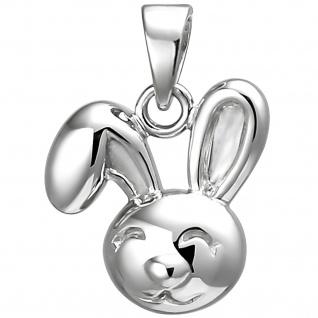 Kinder Anhänger Hase 925 Sterling Silber Silberanhänger