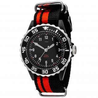 JOBO Kinder Armbanduhr Quarz Analog schwarz rot Kinderuhr - Vorschau 1