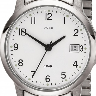 JOBO Damen Armbanduhr Quarz Analog Edelstahl Flexband Damenuhr mit Datum - Vorschau 2
