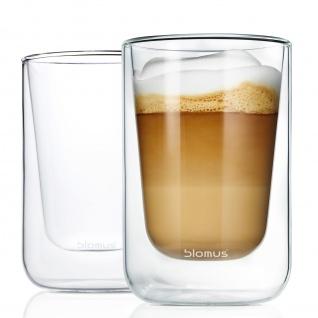 Blomus Thermo Gläser Cappuccinogläser Teegläser NERO 2-teiliges Set