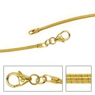 Halsreif 585 Gelbgold 1, 5 mm 50 cm Gold Kette Halskette Goldhalsreif Karabiner