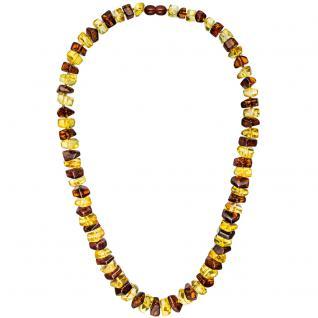 Kette Collier Bernstein bicolor 58 cm Halskette Bernsteinkette Bernsteincollier