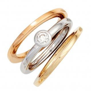 Damen Ring 585 Gold Gelbgold Goldring - Vorschau 2