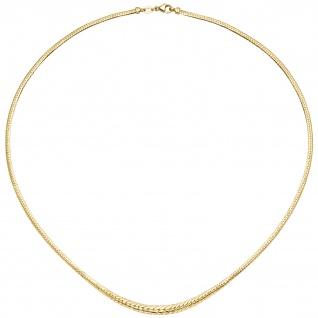 Collier Halskette im Verlauf 585 Gold Gelbgold 45 cm Kette Goldkette