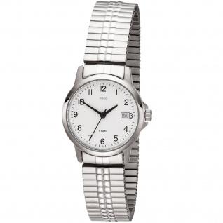 JOBO Damen Armbanduhr Quarz Analog Edelstahl Flexband Damenuhr mit Datum