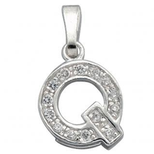 Anhänger Buchstabe Q 925 Silber Buchstabenanhänger