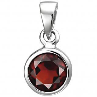 Anhänger 925 Sterling Silber 1 Granat rot