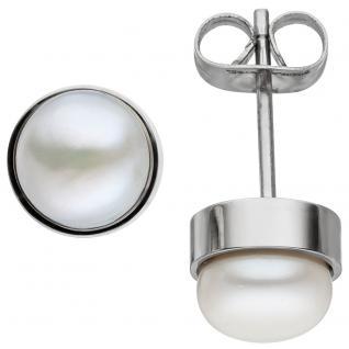 Ohrstecker Edelstahl 2 Süßwasser Perlen Ohrringe Perlenohrstecker Perlenohrringe - Vorschau