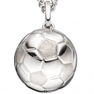 Kinder Anhänger Fußball 925 Sterling Silber rhodiniert mattiert Kinderanhänger - Vorschau 2