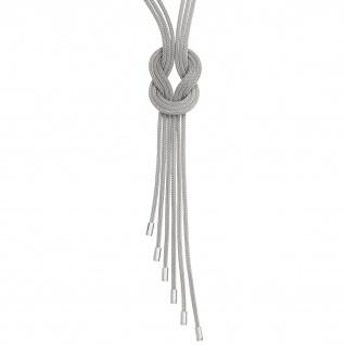 Collier Halskette 3-reihig verschlungen 925 Sterling Silber mattiert 45 cm Kette