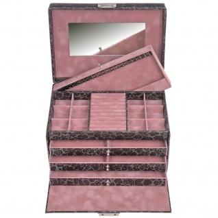 Sacher Schmuckkoffer Schmuckkasten ANIMAL grau rosa Schloss Spiegel