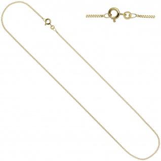 Schmuck-Set 333 Gold Gelbgold Perlen Zirkonia Ohrringe und Kette 45 cm - Vorschau 5