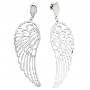 Ohrhänger Flügel Engelsflügel Edelstahl Ohrringe Ohrstecker Edelstahlohrringe