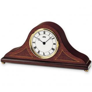 AMS 132/8 Tischuhr Kaminuhr Stiluhr Quarz analog aus Holz mahagoni farben