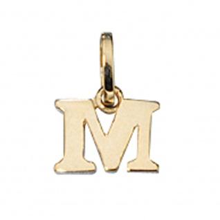 Anhänger Buchstabe M 333 Gold Gelbgold Buchstabenanhänger