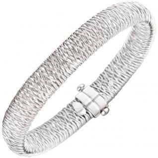 Armreif Armband 585 Gold Weißgold 19 cm Weißgoldarmreif Weißgoldarmband
