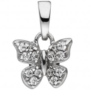 Kinder Anhänger Schmetterling 925 Sterling Silber mit Zirkonia Kinderanhänger