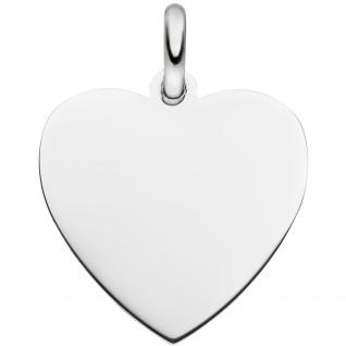 Anhänger Gravurplatte Herz 925 Silber