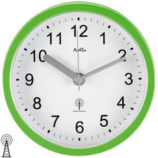 AMS 5922 Wanduhr Tischuhr Baduhr Badezimmeruhr Funk grün hellgrün wasserdicht