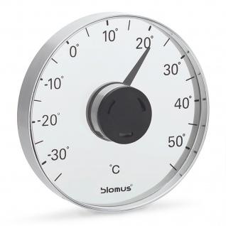 Blomus Fensterthermometer GRADO, Edelstahl matt, mit Kunststoff/Acryl kombiniert