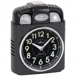 Atlanta 1947/4 Wecker Quarz analog Licht Snooze Glockensignal Glocke