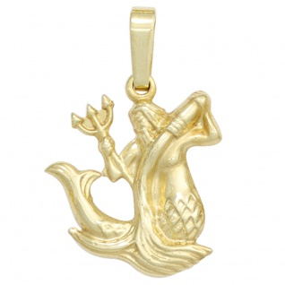 Anhänger Sternzeichen Wassermann 333 Gold Gelbgold Sternzeichenanhänger