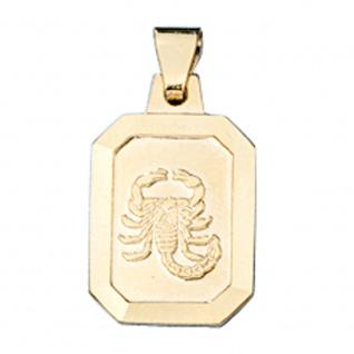 Anhänger Sternzeichen Skorpion 333 Gold Gelbgold matt Sternzeichenanhänger - Vorschau