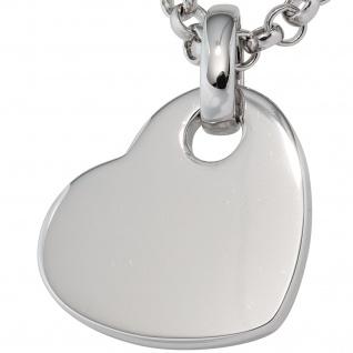 Anhänger Herz 925 Sterling Silber rhodiniert Herzanhänger - Vorschau 2