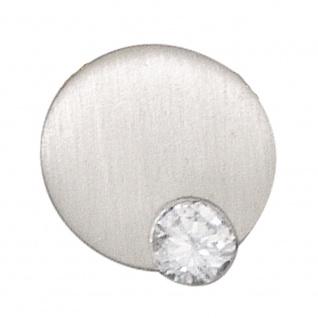 Anhänger rund 950 Platin matt 1 Diamant Brillant 0, 16ct. Platinanhänger