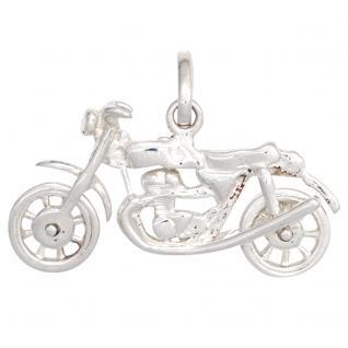 Kinder Anhänger Motorrad 925 Sterling Silber rhodiniert Kinderanhänger